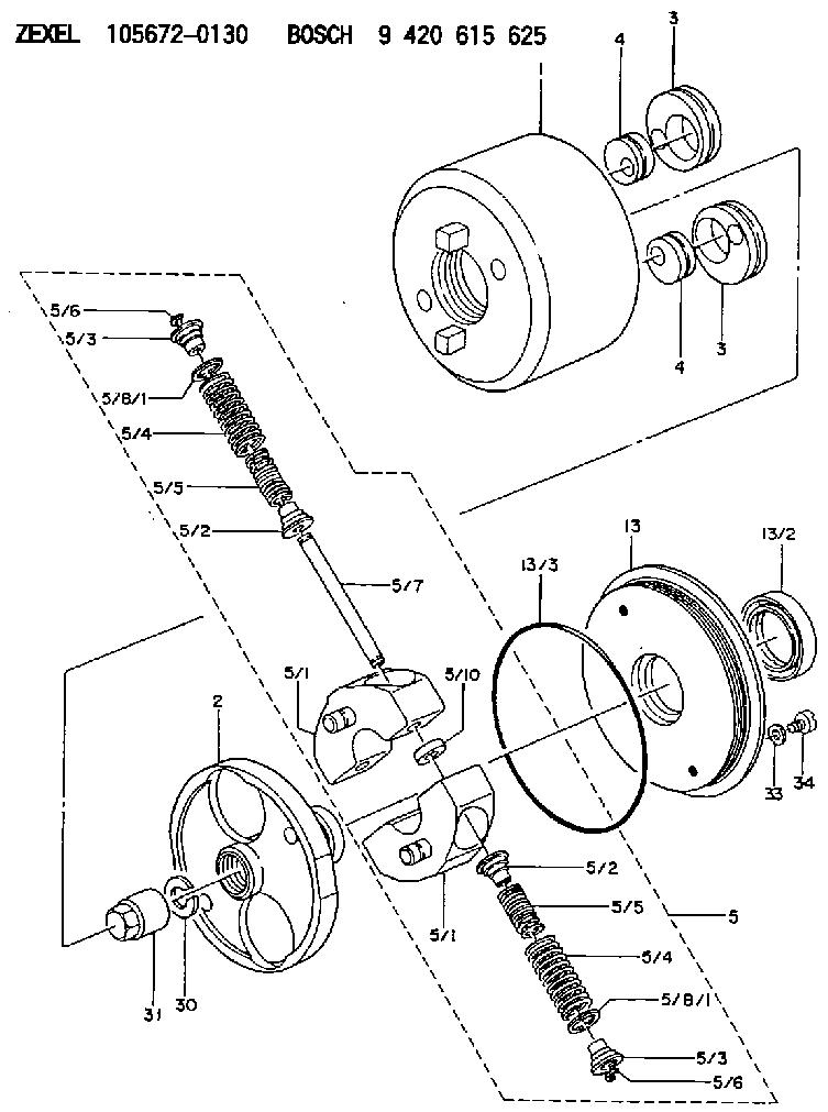 156725 4400 Zexel 9 423 613 093 Bosch Compression Spring