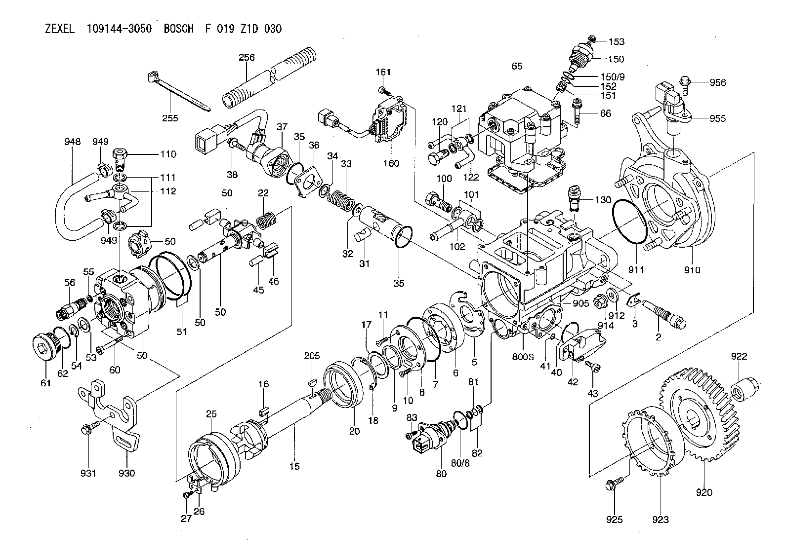 Zexel Pump Manual Cav Injection Diagram On Perkins Fuel Array 109144 3050 F 019 Z1d 030 Bosch Assembly Rh Inject