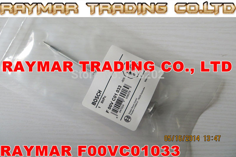 Common rail injector valve F00VC01033 for 0445110279,0445110283,0445110186,0445110185