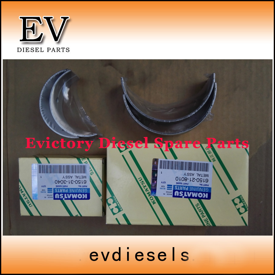 6D125 S6D125 SAA6D125E maincrankshaft bearing and connecting rodcon rod bearing for Komatsu PC300-3 PC400-3
