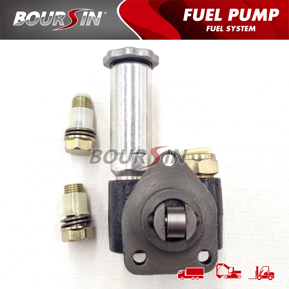 PC200-6 / 6D102 Industrial Engine Parts 105220-5960 Casting Iron Fuel Feed Primer Pump FO1G0V3000
