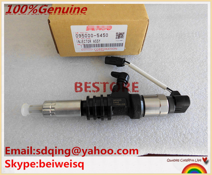 Original and New COMMON RAIL Injector 095000-5450 For 6M60 ME302143