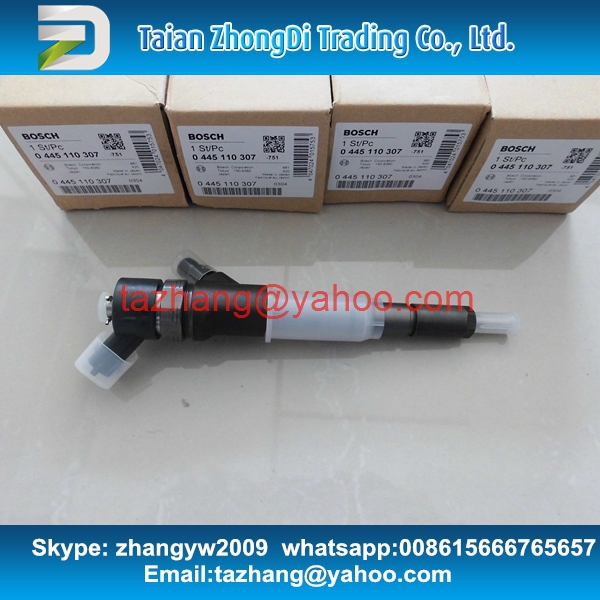 Genuine common rail Injector 0445110307 for komatsu PC70-8 6271-11-3100