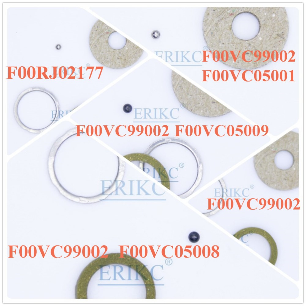 ERIKC common rail injector sealing rings F00VC99002 F00VC05001 F00VC05008 F00VC05009 ball diameter size ( 1.34mm 1.5mm)