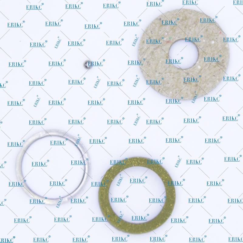 ERIKC Common Rail Injector sealing rings F00VC99002 F00VC05001 for 120 Series 6 Cylinder Engine Ball Diameter 1.34mm