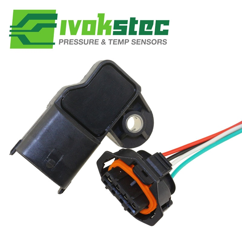 With Plug 3.5Bar MAP Sensor Turbo Boost Air Pressure Sensor For Fiat Mercedes Nissan VW 0281002456 0 281 002 456 0261230373