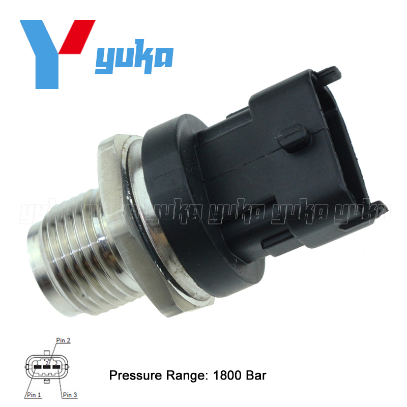 1800 Bar Fuel Rail High Pressure Sensor Common Injection Regulator Sender For KAVZ AURORA 4235 ISBe 150 0281006364 0281006325