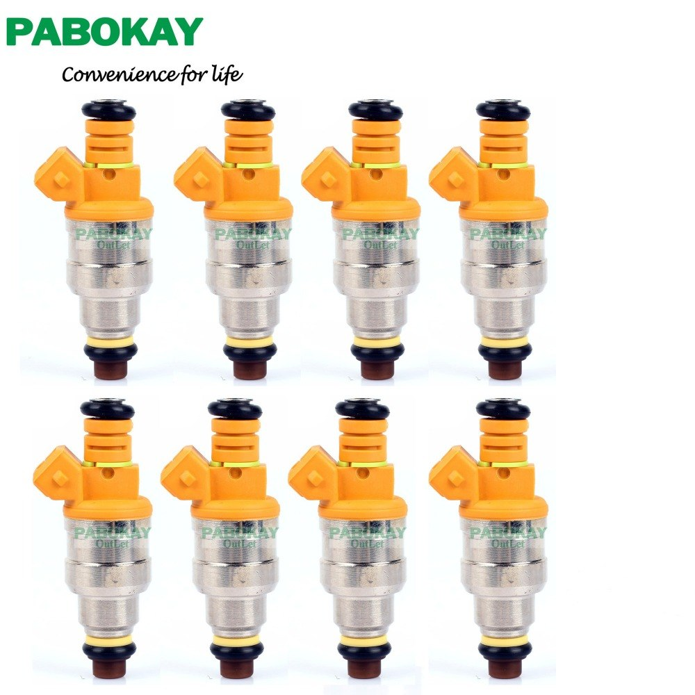 8 pieces x For Ford E150 Club Wagon 93-02 5.0 5.8 4.6 5.4 Fuel Injector 0280150943 0280150909 0280150556 0280150939 0280150718
