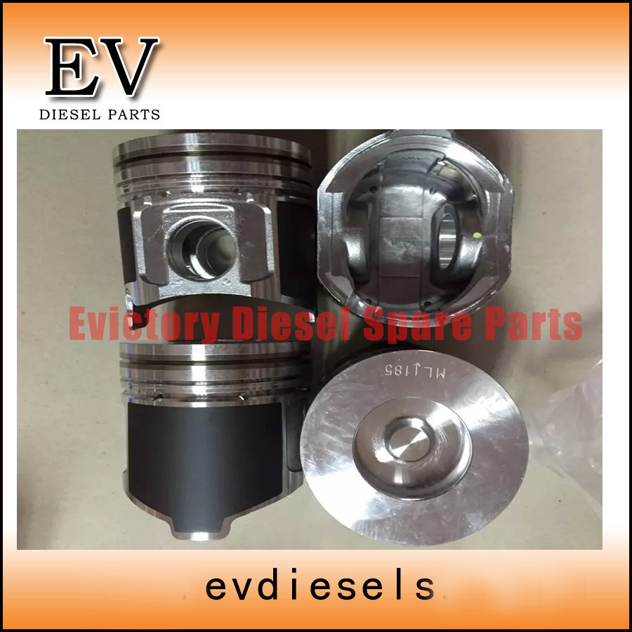 For Yanmar 4TNV98 4TNV98T piston kit include piston pin and clip Excavtor