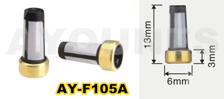 free shipping 20pieces universal type fuel injector filter with size13*6*3mm for cdh275 (AY-F105A)