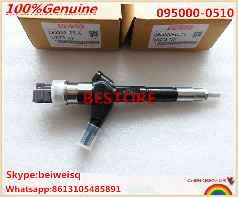Original common rail injector 095000-051/ 095000-0510 for X-Trail T30 2.2L 16600-8H800, 16600-8H801