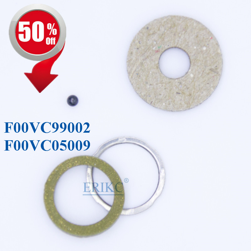 ERIKC F00VC99002 and F00VC05009 diameter=1.50mm Diesel Injector Sealing Rings Black Ceramic ball 1.5mm Repair kits 110 injector