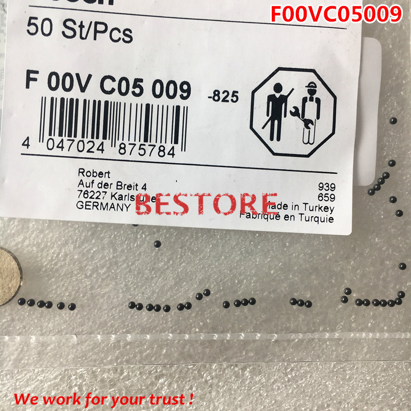 Original and new injector steel ball F00VC05009 for 0445110183,0445110269.0445110274