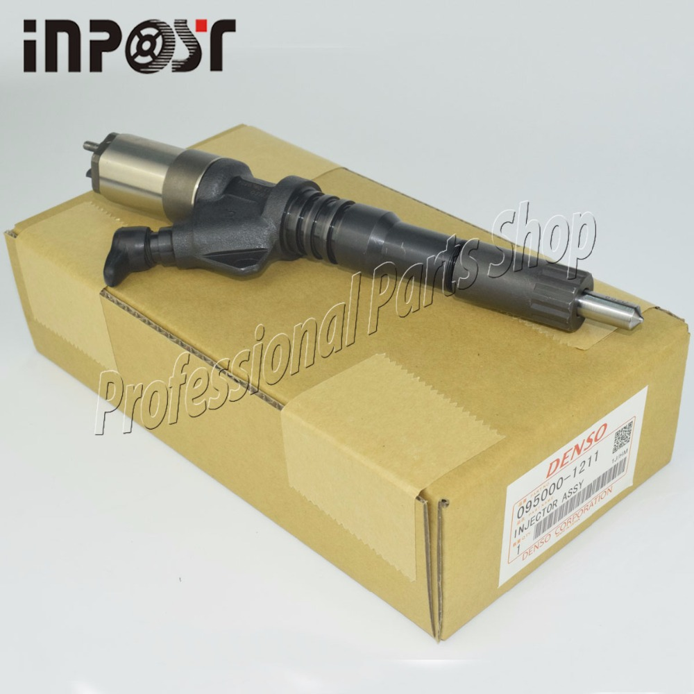 Engine Rail Injector For Komatsu PC400-7 PC450-7 S6D125 Excavator 095000-1211 6456-11-3300
