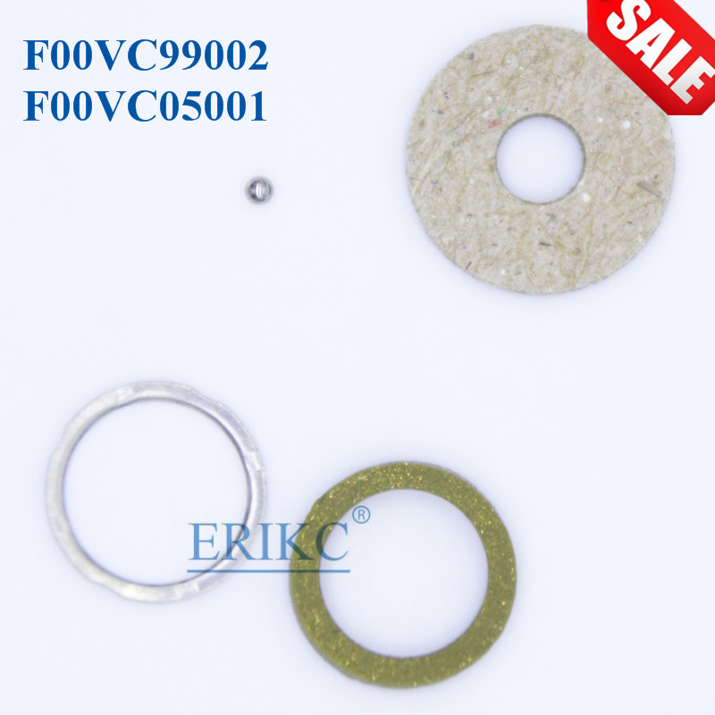 ERIKC CR Injector Repair Kits F00VC99002 Steel Ball Diameter 1.34mm F00VC05001 for Bosch 120 Series 6 Cylinder Engine 10BAG/ lot
