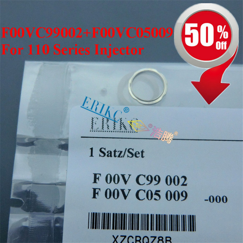 ERIKC F00VC99002 and F00VC05009 diameter=1.50mm diesel injector sealing rings Black Ceramic ball repair kits 110 series injector
