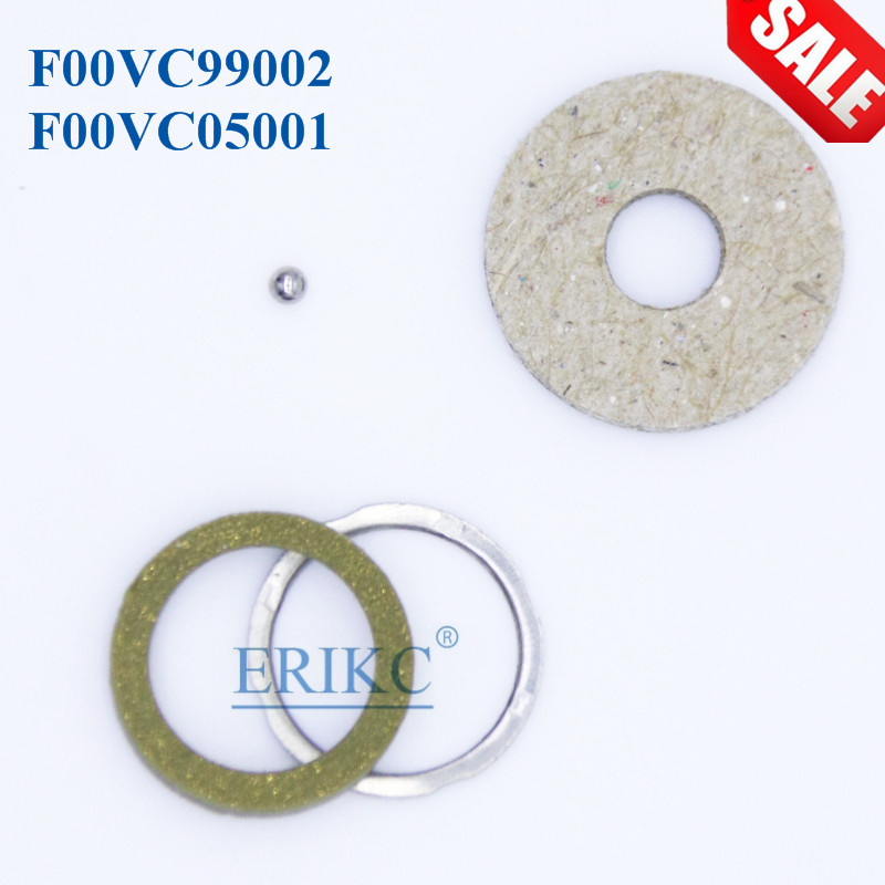 ERIKC Gasket F00VC99002 Repair Kits Steel Ball Diameter Size 1.34mm F00VC05001 for Bosch CR Wholesale Injector series 10 Bag/lot