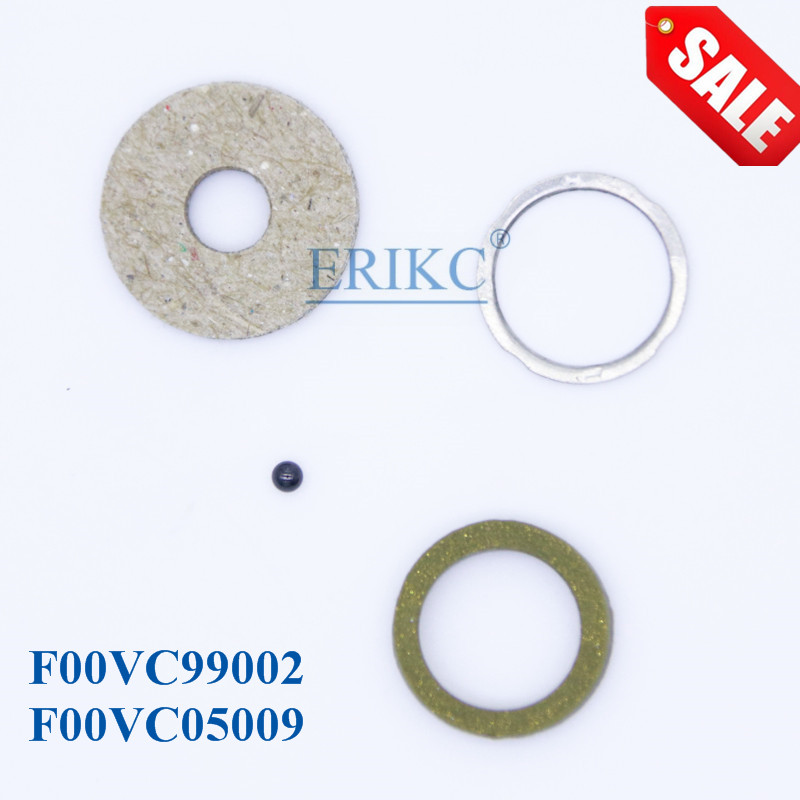 ERIKC Repair Kit Gasket F00VC99002 Ceramic Ball Diameter 1.50mm F00VC05009 CR Injector for Bosch 110 Series 4 Cylinder 10bag/lot