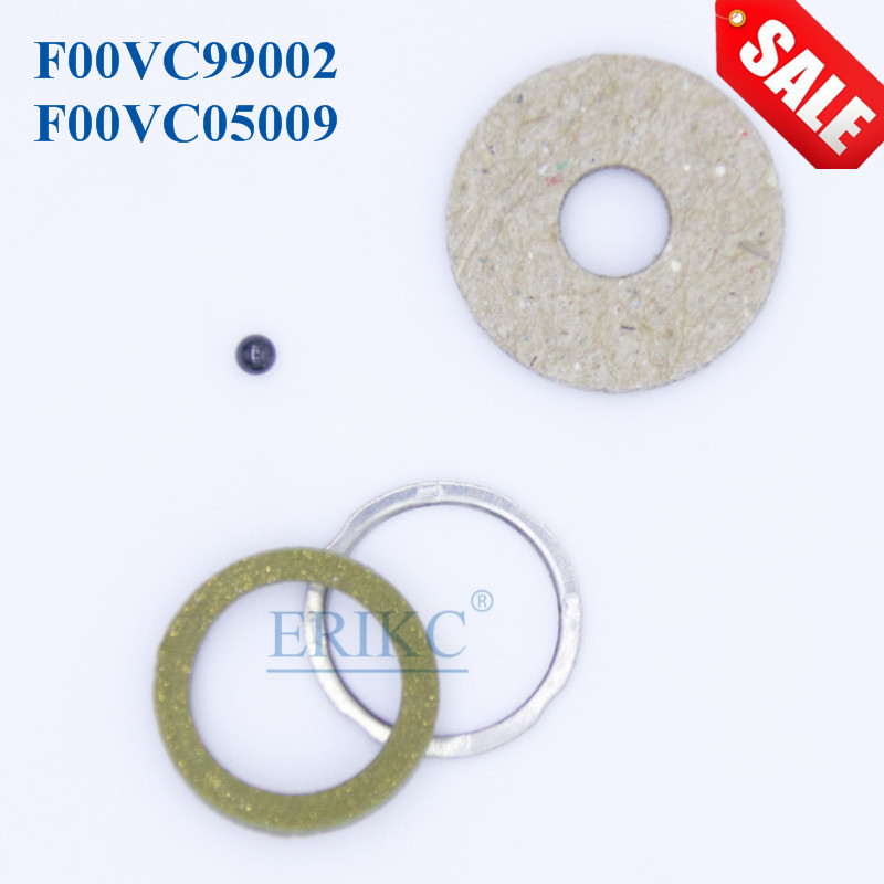 ERIKC Repair Kit Gasket F00VC99002 F00VC05009 Ceramic Ball Diameter 1.50mm CR Injector for Bosch 110 Series 4 Cylinder 10bag/lot