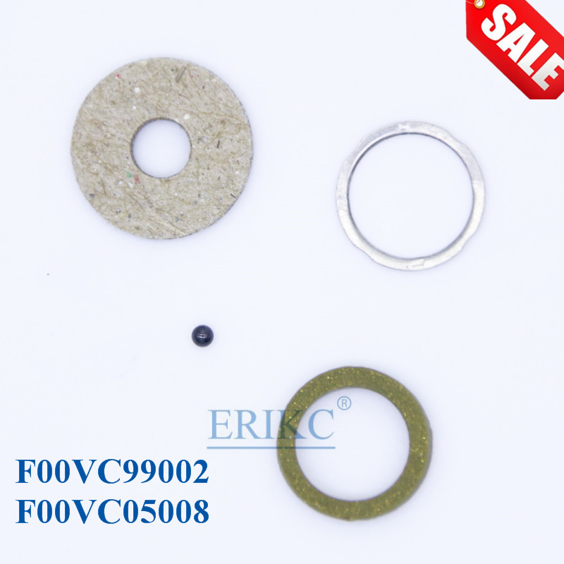 ERIKC Repair Kits Gasket F00VC99002 Ceramic Ball 1.34mm F00VC05008 Common Rail Injector for Bosch CRIN Injector for 10BAG/ lot