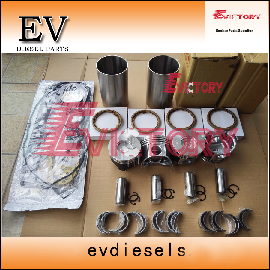 For Yanmar VIO20-1 engine overhaul kit 4TNV88 4TNV88T piston+ring+liner+bearing+gasket+Valve guide seat