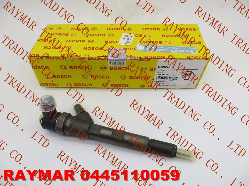 Genuine common rail fuel injector 0445110059 for Chrysler 05066820AA, 05066-820AA, LDV 510990024, VMI 15062036F