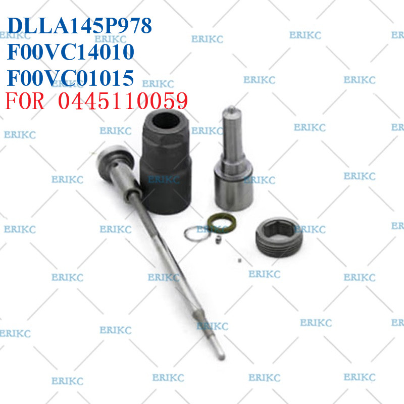 ERIKC F00ZC99026 Injector Overhaul Repair Kits Diesel CR Nozzle DLLA145P978 Valve F00VC01015 for Jeep 0445110059 / 0986435149