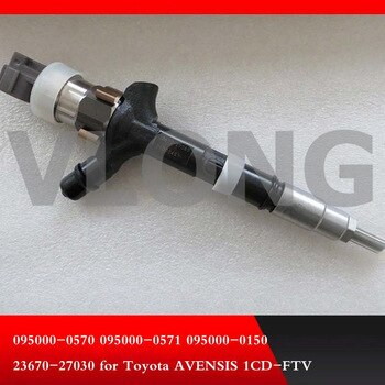 GENUINE AND BRAND NEW DIESEL FUEL INJECTOR 095000-0570, 095000-0571, 095000-0150, 23670-27010, 23670-27030, 23670-29015