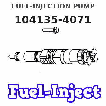 104135-4071 FUEL-INJECTION PUMP