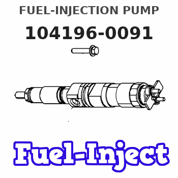104196-0091 FUEL-INJECTION PUMP