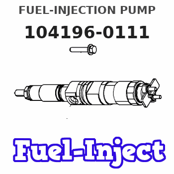 104196-0111 FUEL-INJECTION PUMP