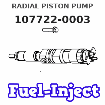 107722-0003 RADIAL PISTON PUMP