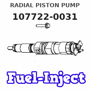 107722-0031 RADIAL PISTON PUMP