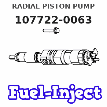 107722-0063 RADIAL PISTON PUMP