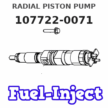 107722-0071 RADIAL PISTON PUMP